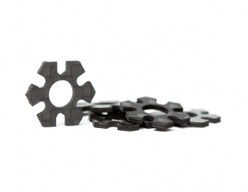 12mm Hex Track Width Spacers | 0.5mm Carbon | 5 pack