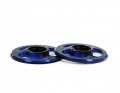 Triad Wing Buttons | Dual Black / Blue