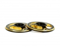 Triad Wing Buttons | Dual Black / Gold
