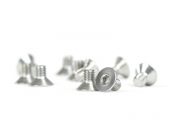 M2.5 x 4 Stainless Steel Flat-Head Cap Screw | 10 Pack