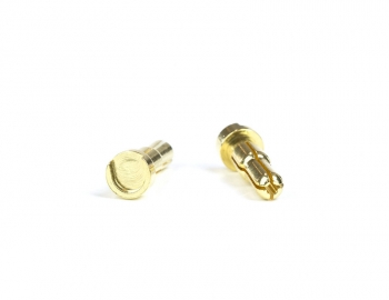 Gold Battery Bullets (2) | Low Profile | 5 to 4mm