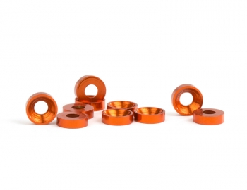M3 Orange Aluminum Countersunk Washer | 10 Pack