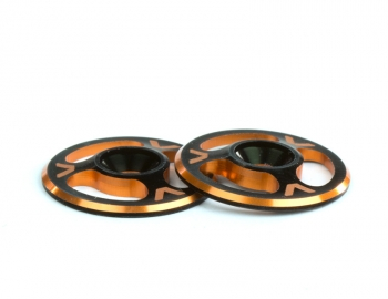 Triad Wing Buttons | Dual Black / Orange
