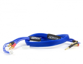 2S Charge Lead Cable w/4mm & 5mm Bullet Connector (2') | Blue