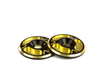Triad Wing Buttons | HD | Dual Black / Gold