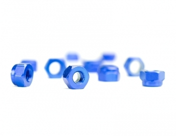 M3 Blue Aluminum Locknut | 10 Pack