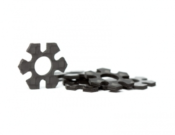 12mm Hex Track Width Spacers | 1mm Carbon | 5 pack