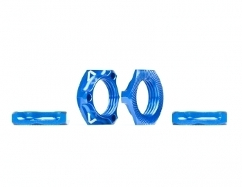 Triad 17mm Light Wheel Nuts | Blue | 4pcs