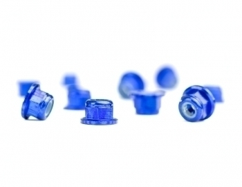 M3 Flanged Blue Aluminum Locknut | 10 Pack