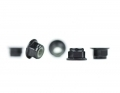 M4 Flanged Black Aluminum Locknut | 5 Pack