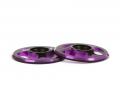 Triad Wing Buttons | Dual Black / Purple