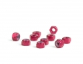 M3 Red Aluminum Locknut | 10 Pack
