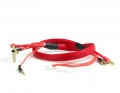 2S Charge Lead Cable w/4mm & 5mm Bullet Connector (2') | Red
