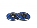 Triad Wing Buttons | HD | Dual Black / Blue