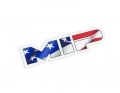 MIP American Flag, Die Cut Vinyl Sticker, 3.73in x 1in
