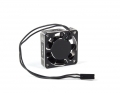Aluminum HV High Speed Cooling Fan | Black/Silver | 40mm