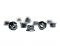 M3 Flanged Black Aluminum Locknut | 10 Pack